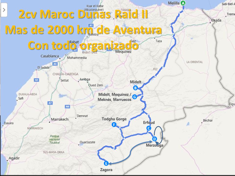 2cv maroc dunas raid II